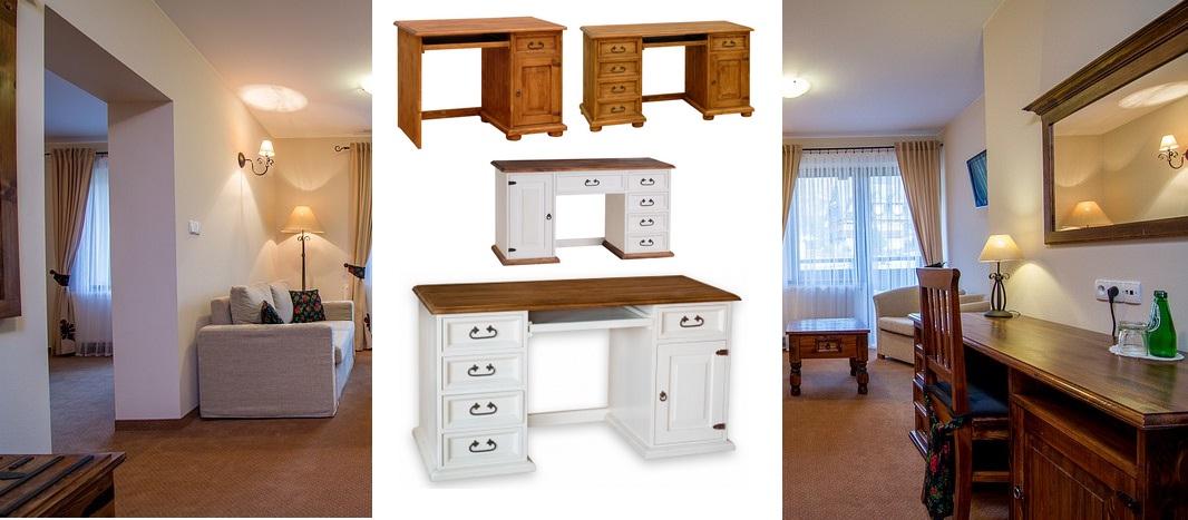 pc stôl rustikálny