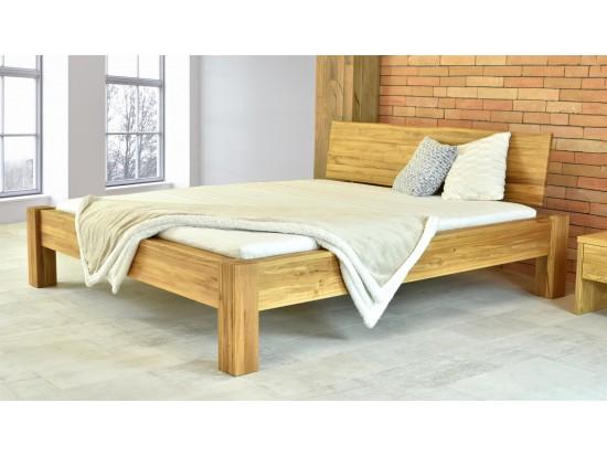 Manželská dubová posteľ