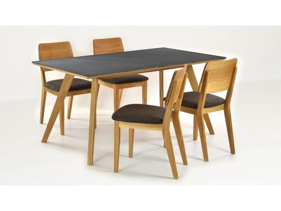 Jedálenský stôl pre 4- 6 osôb (Stôl dekton 160 x 90, 4 x stolička Norman)