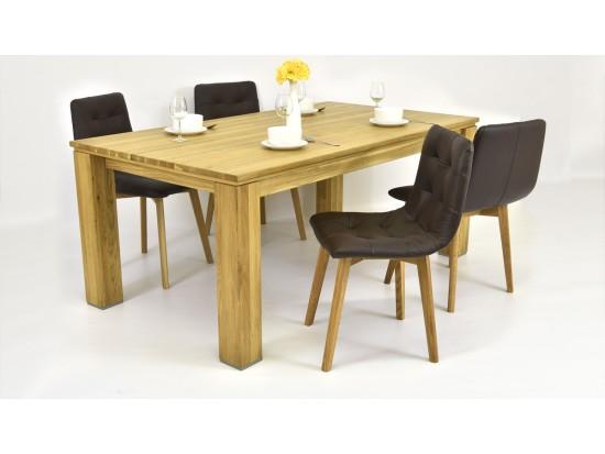 Luxusný jedálenský set 180 x 100 + kožené stoličky (pre 4 až 6 osôb)