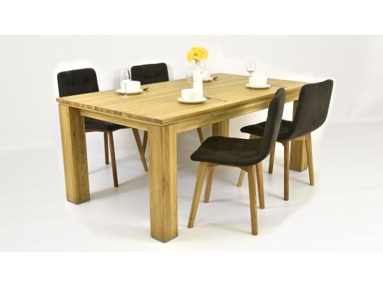 Moderný jedálenský set ( Stôl 160, 180 ) + Značkové kožené stoličky