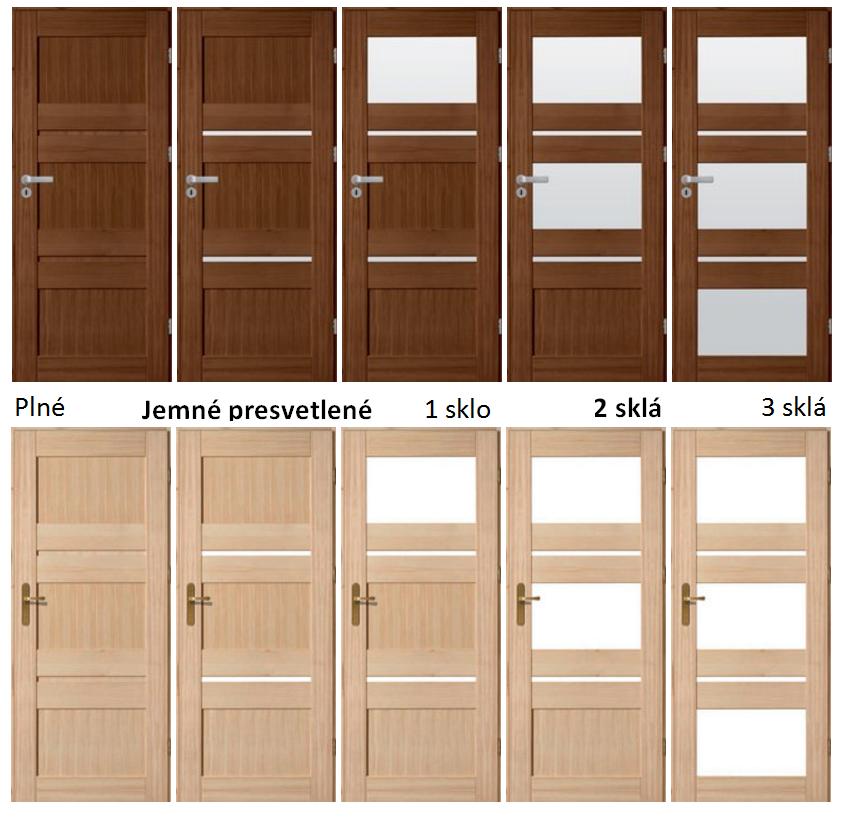 Drevené dvere povrchovo ošetrené