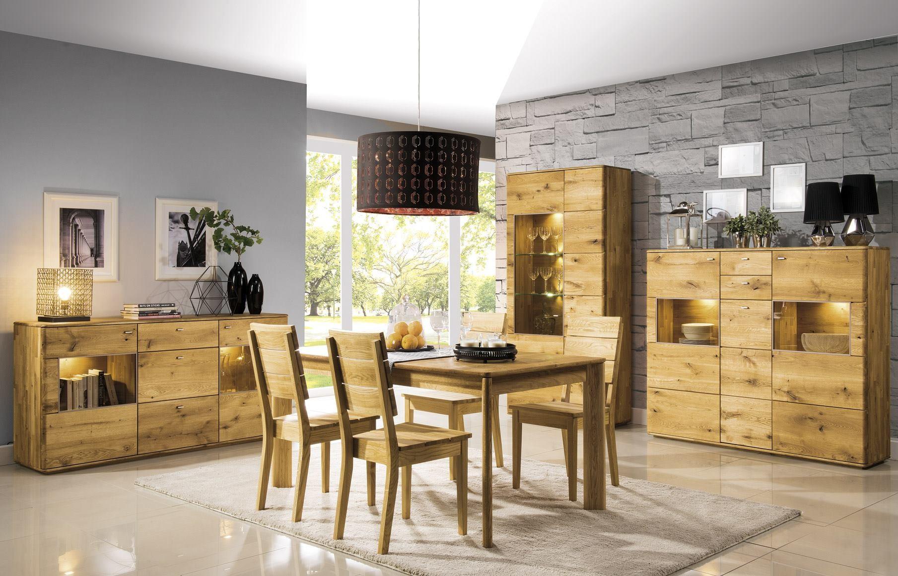 Nábytok do obývačky dub masív