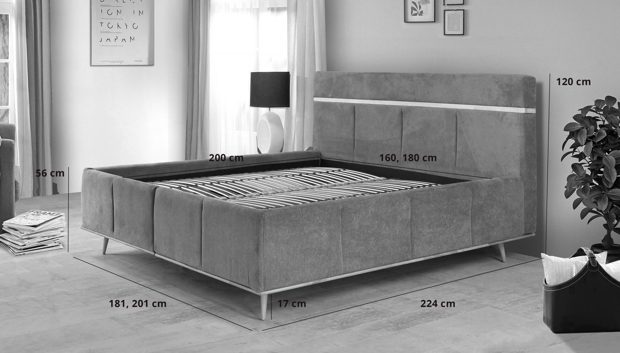 boxspring manželská postel 180 x 200