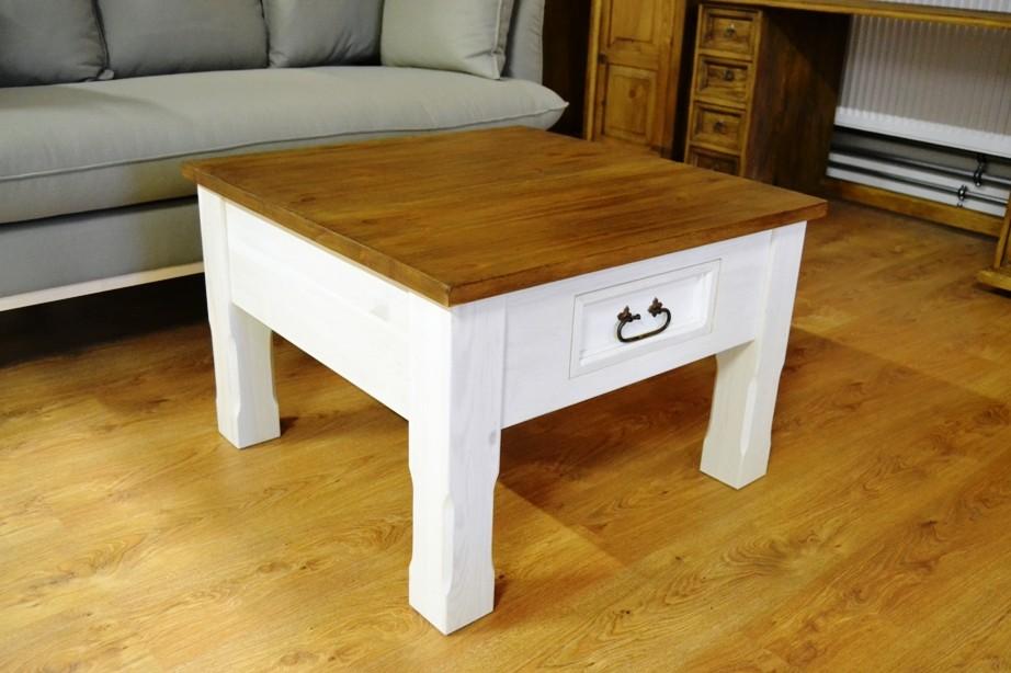 Bielo hnedý konferenčný stolík