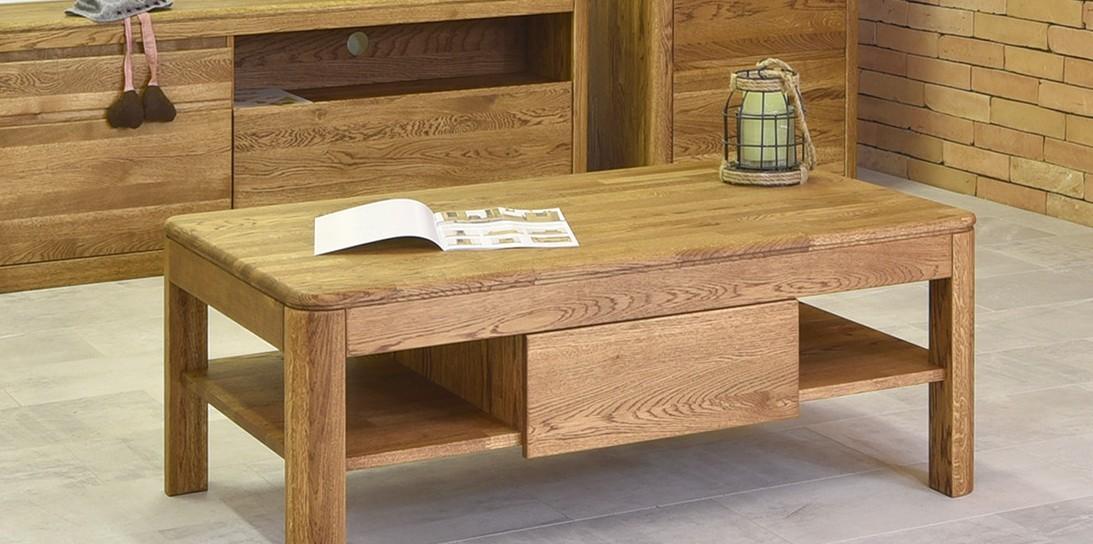 Moderný dubový konferenčný stolík farba orech