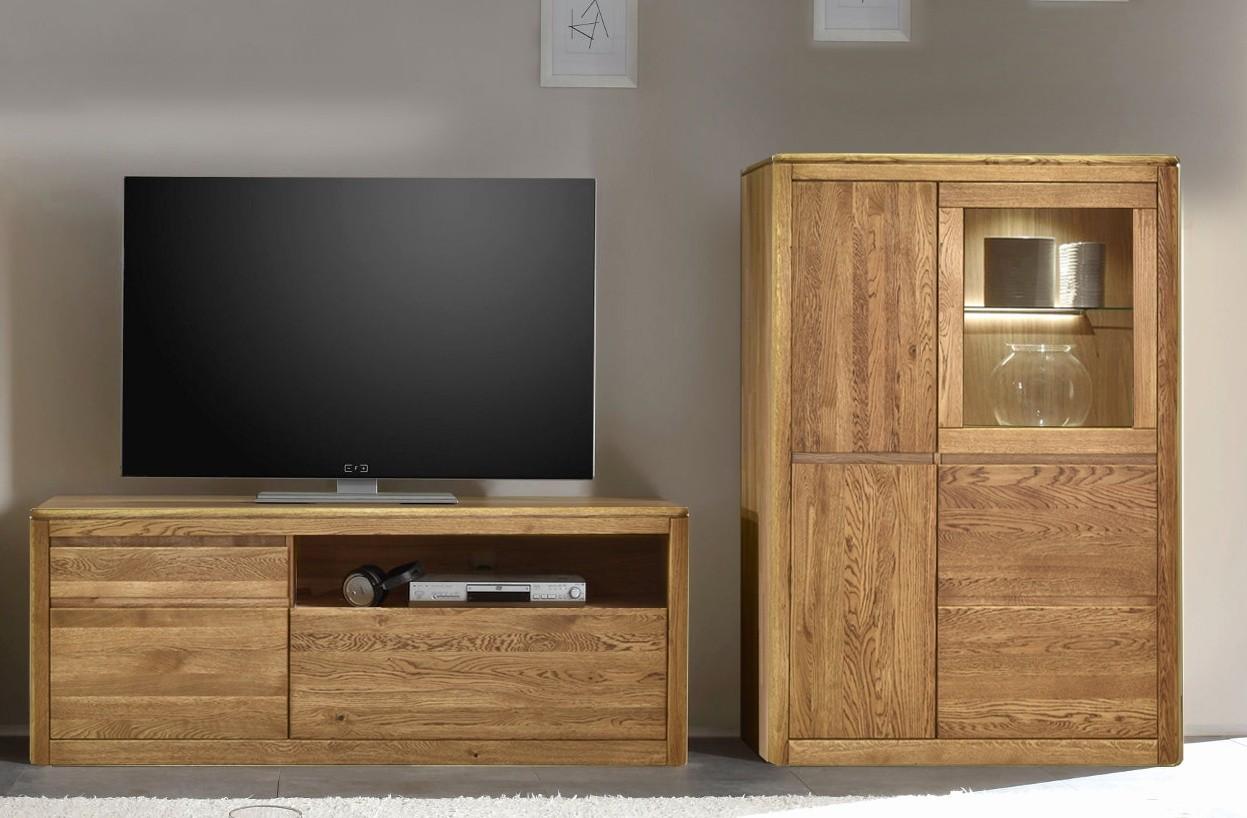 Dubový nábytok do obývačky, farba orech
