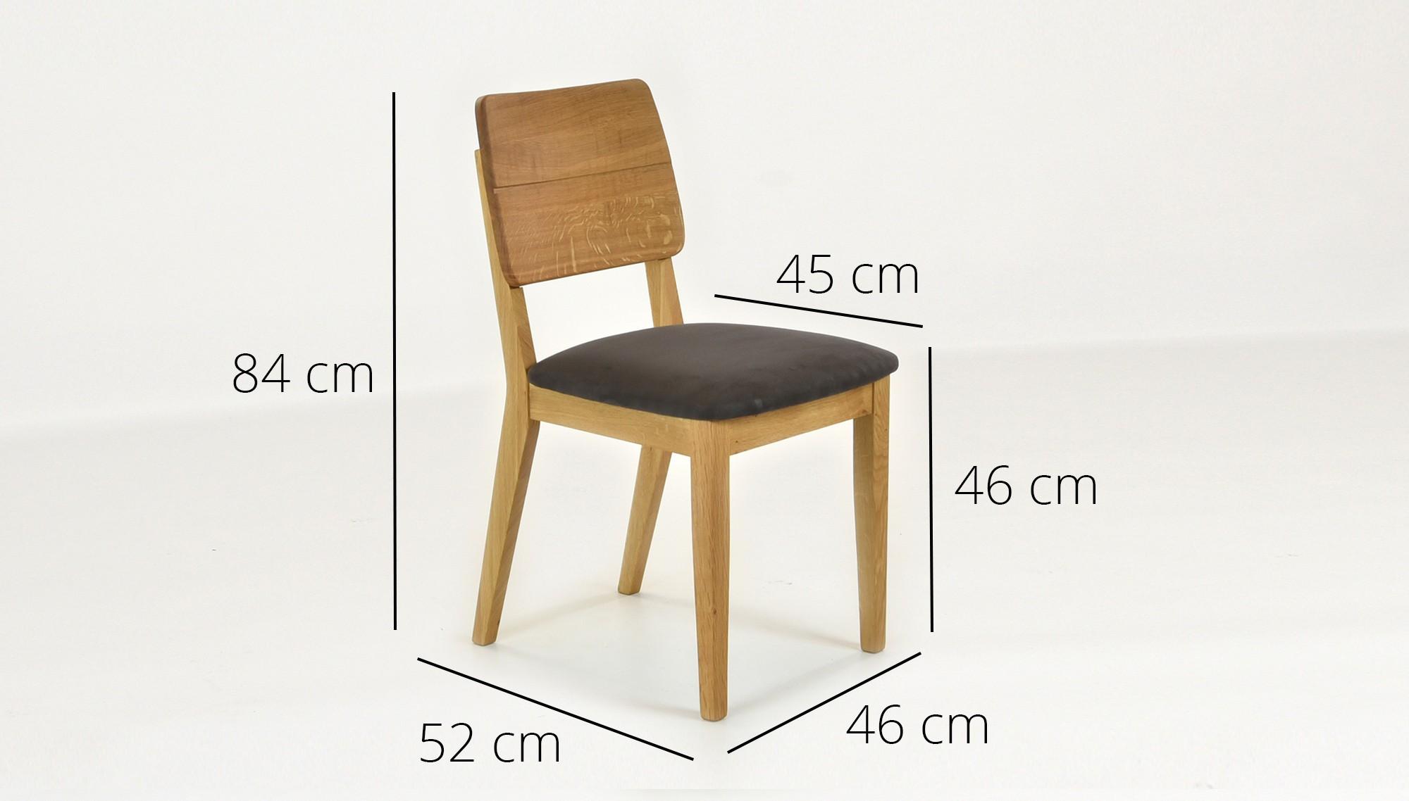 95a37e48537b Dubová stolička NORMAN hnedá brúsena koža