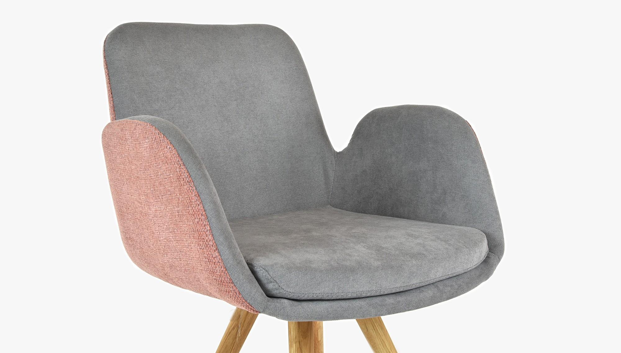 Pohodlná dubová stolička do jedálne žltý poťah