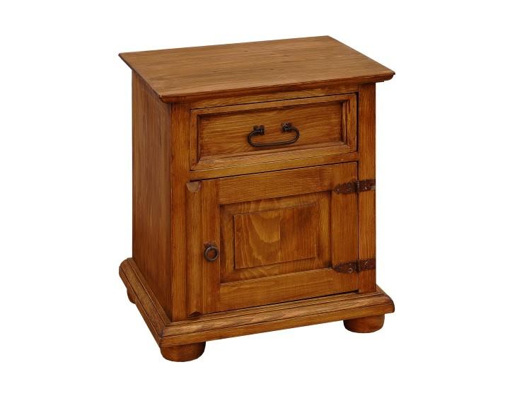 drevený nočný stolík - farba faštan