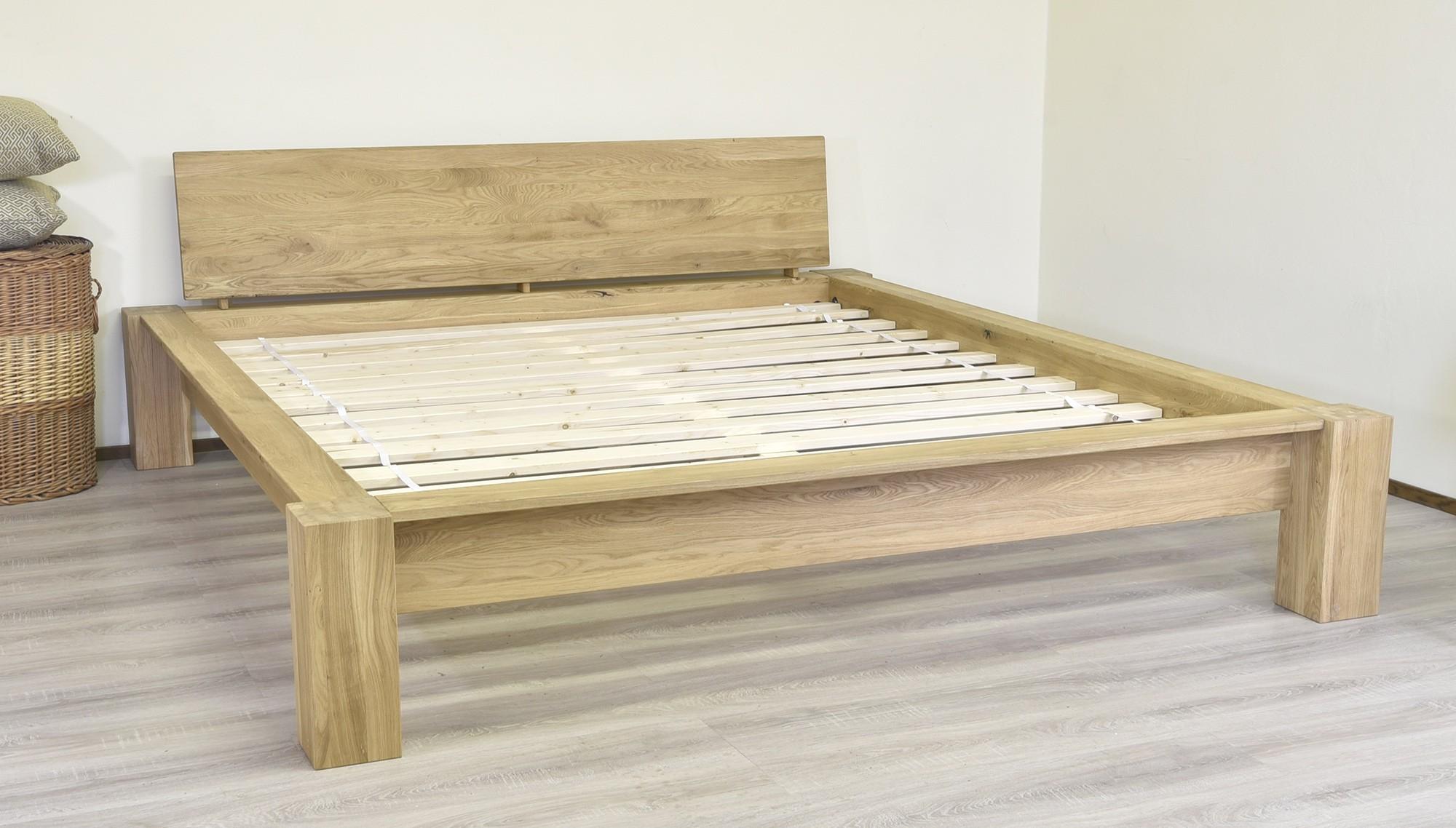 fc1d537e691f0 Drevená postel dub masív · Dubová posteľ masív 180 x 200 Toscany ...