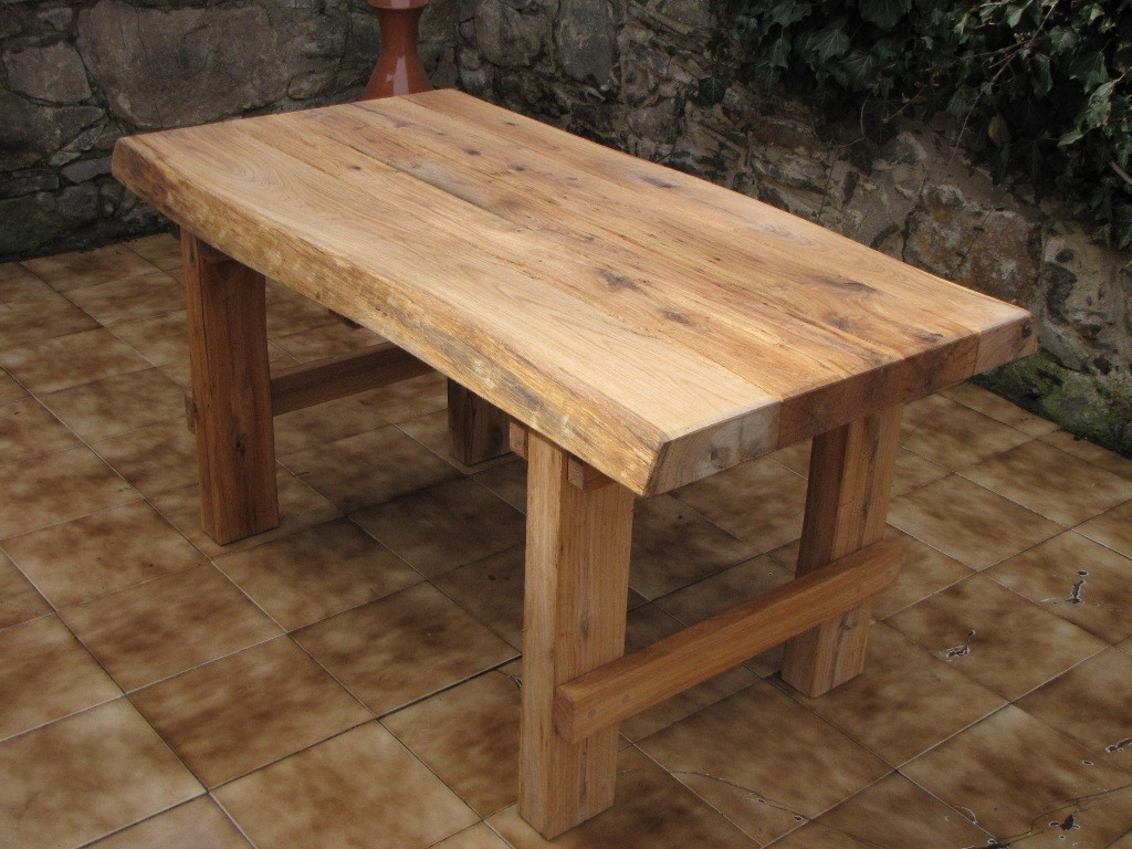 911131d79d12 Dubový záhradný stôl 150 cm (hrúbka masívu 7 cm)