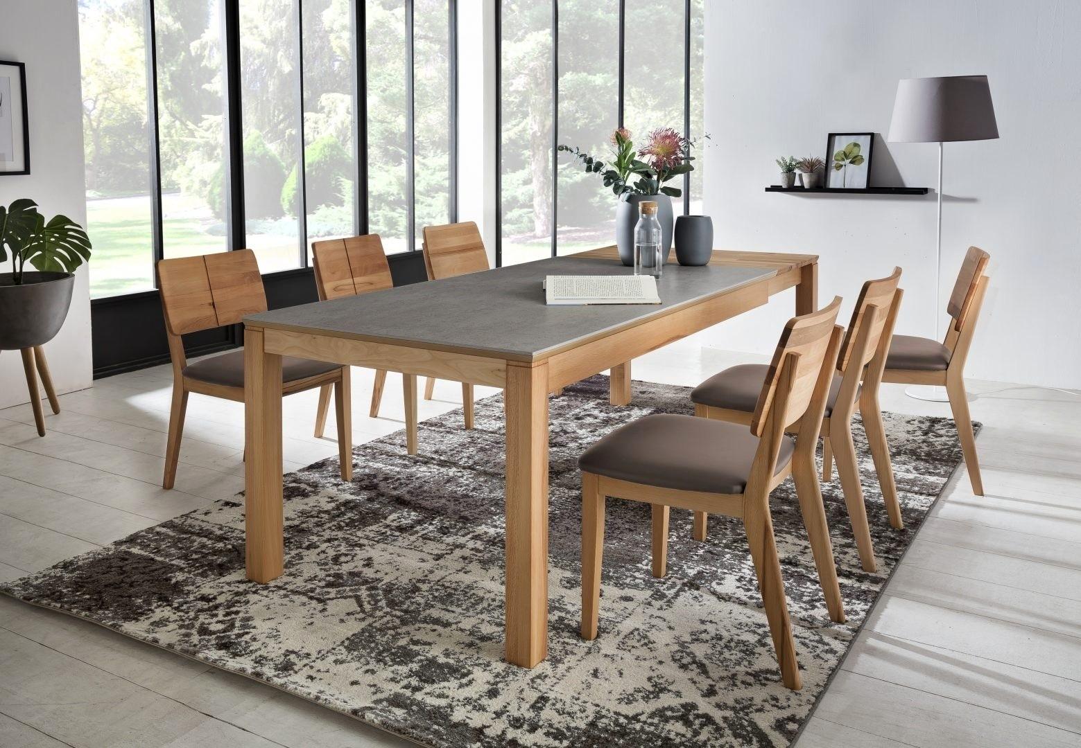 Stôl do jedálne, rozkladací - vrchná doska DEKTON