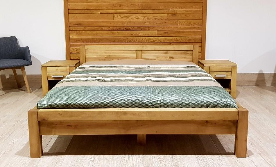 01f5f098d42e Manželská postel z masivu L 5 Antic - olej