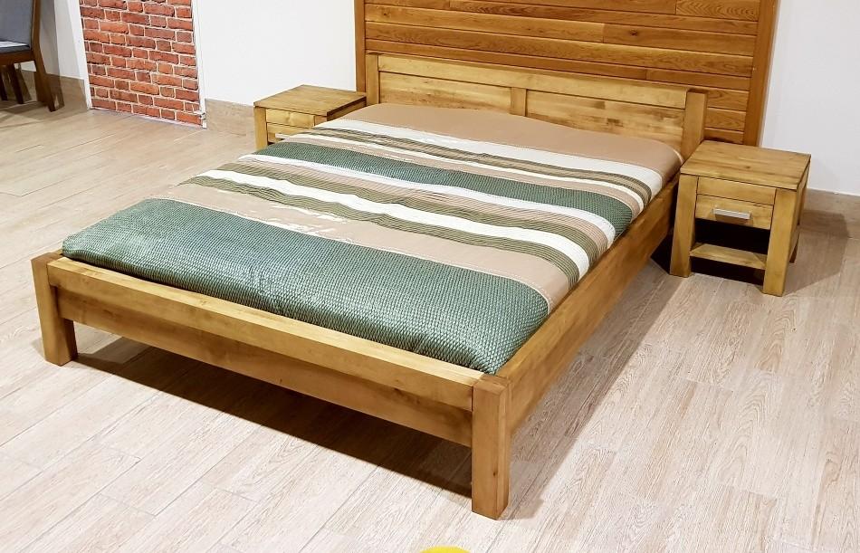 6e70c5c87030 Manželská posteľ z masívu L 5 Antic - olej 140 x 200