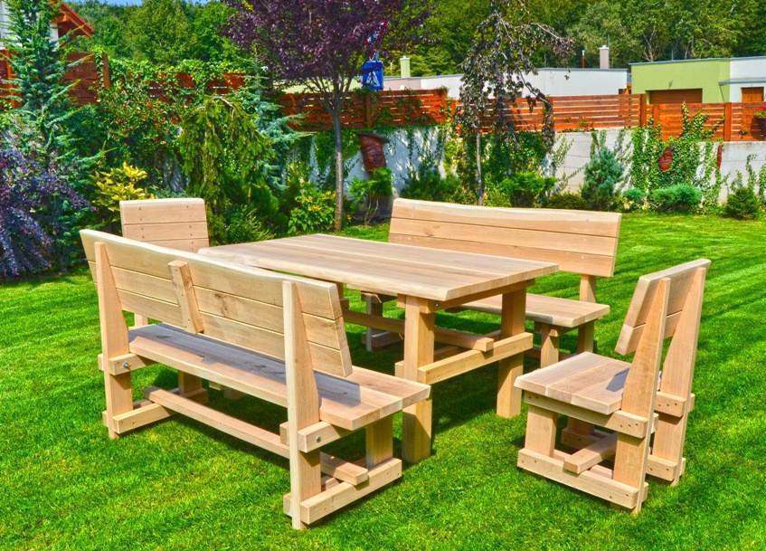 Dubové záhradné sedenie z masívu