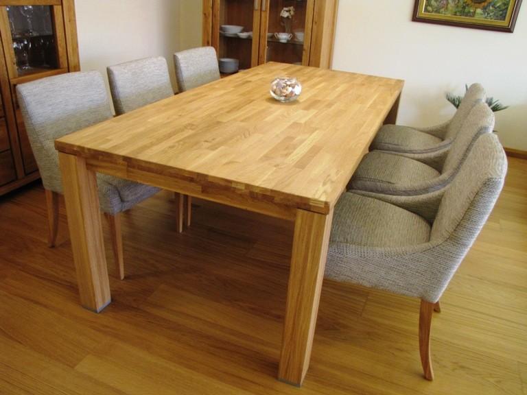b1406a45cdb2 ... Na obrázku luxusný dubový stôl do jedálne 210 x 100 ...