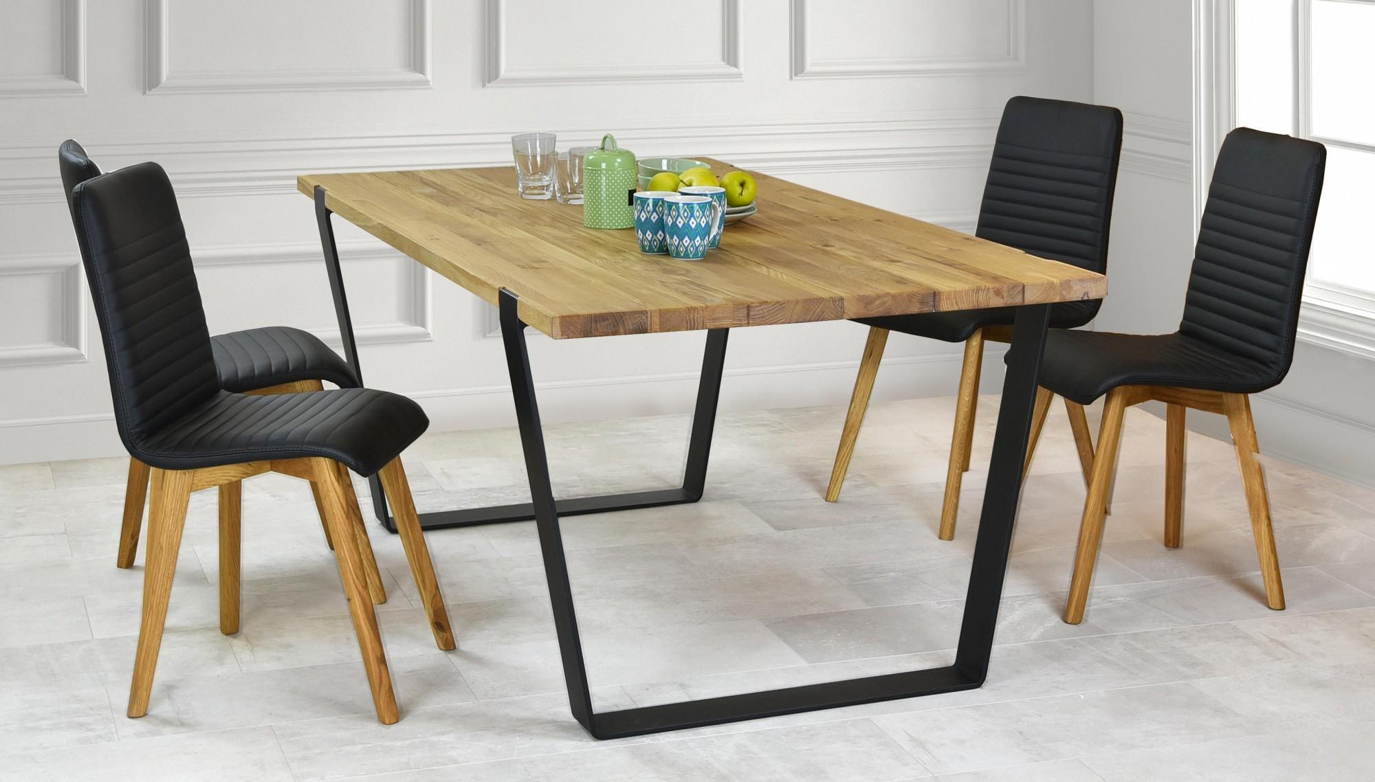 8870df47baec Jedálenský set pre 4-6 osôb (Dubový stôl 180 x 96 a 4 x kožená ...