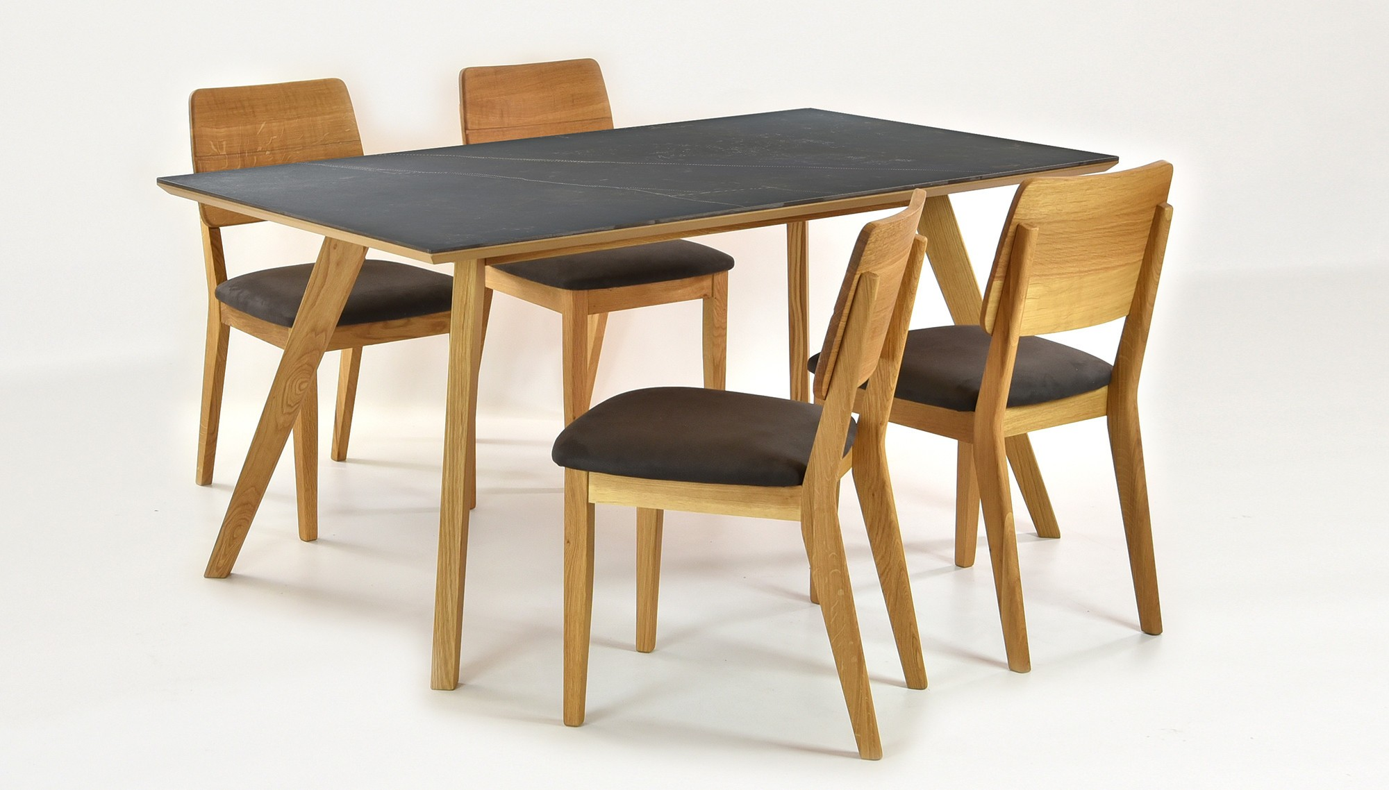 6610f614a369f Jedálenský stôl pre 6 osôb (Stôl dekton 160 x 90, 4 x stolička Norman)