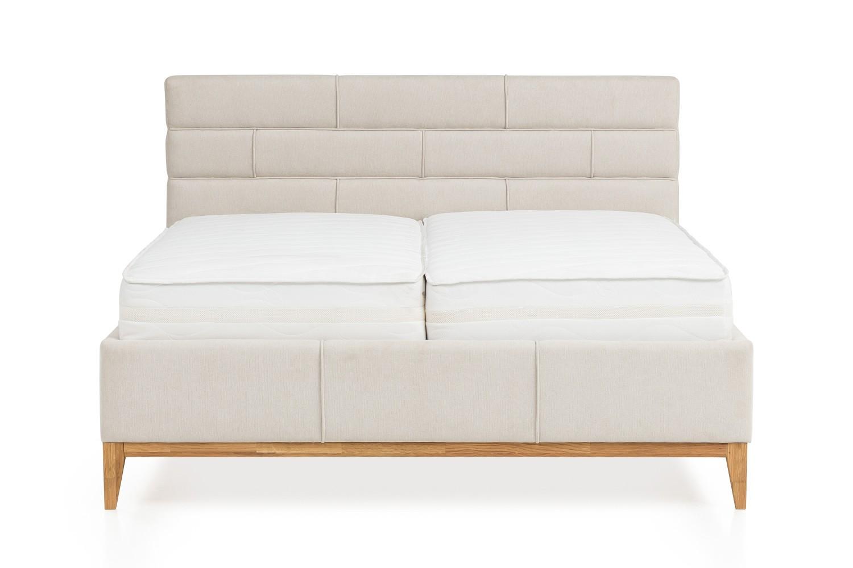 Kvalitná boxspring postel s úložným priestorom a lamelovým rostom