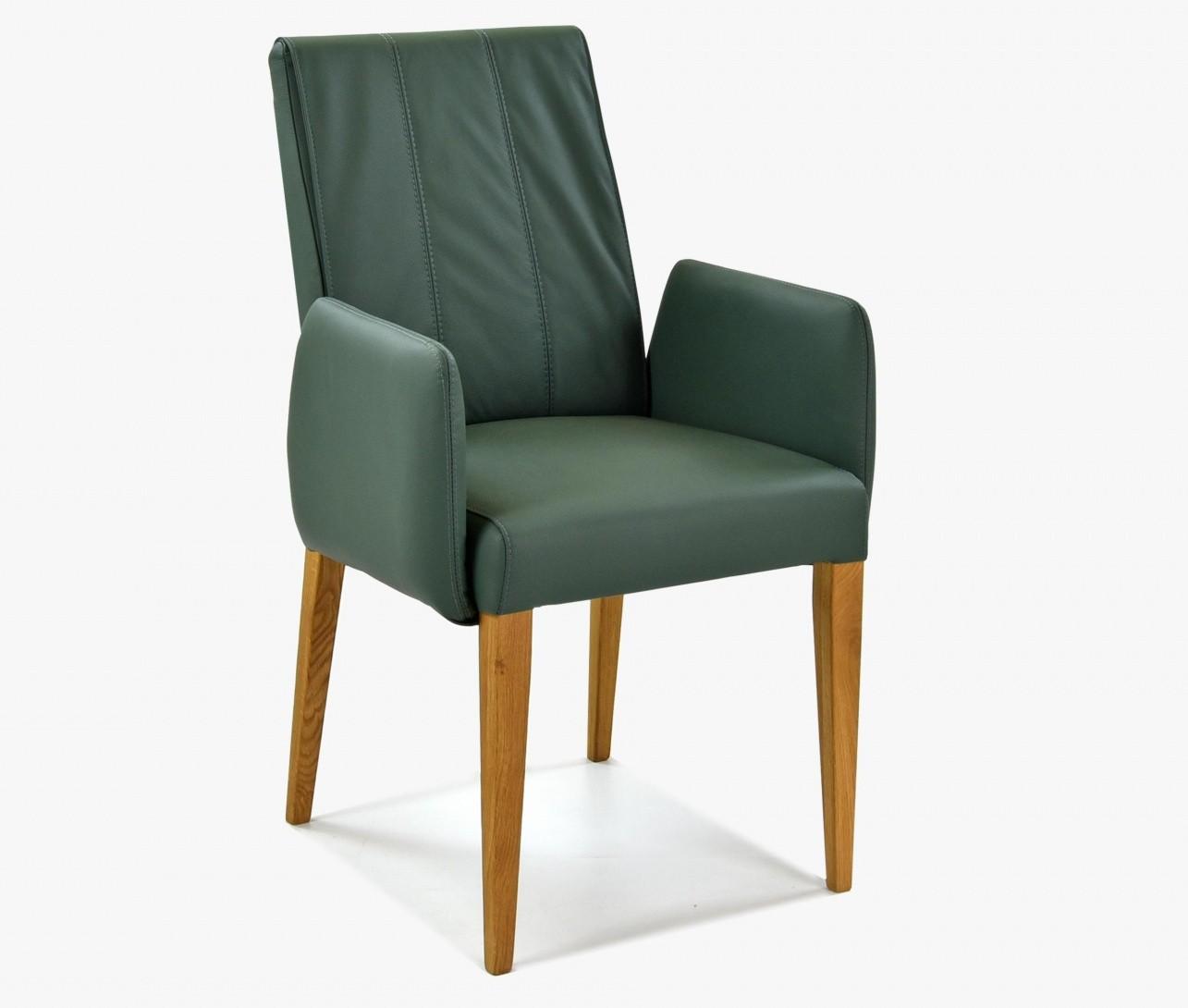 333506996ba18 Jedálenská stoličky s podrúčkami, pravá koža zelená