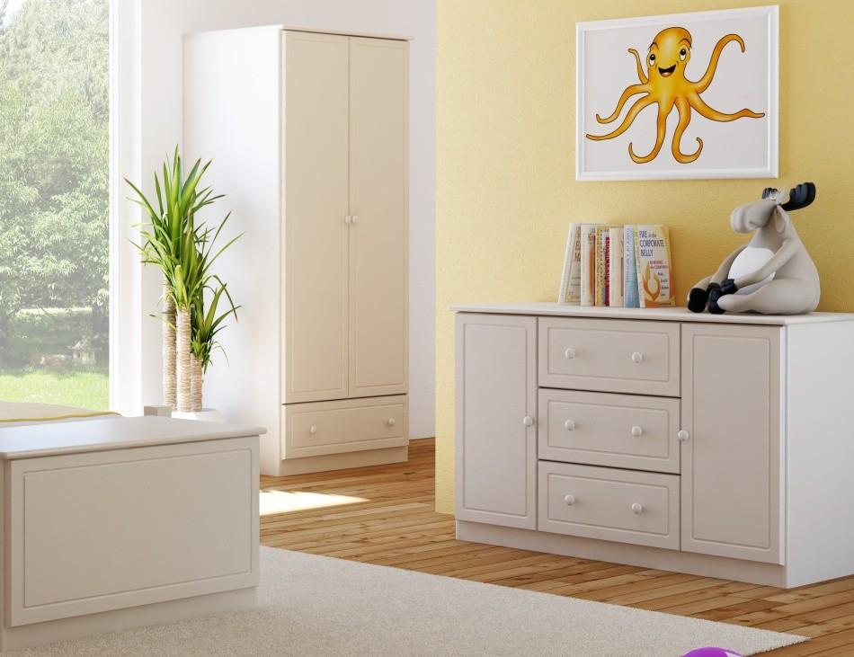 45f200f09683f Drevená komoda do detskej izby vyrobená v harmoníi s prírododou - 115 x 78  x 47 cm