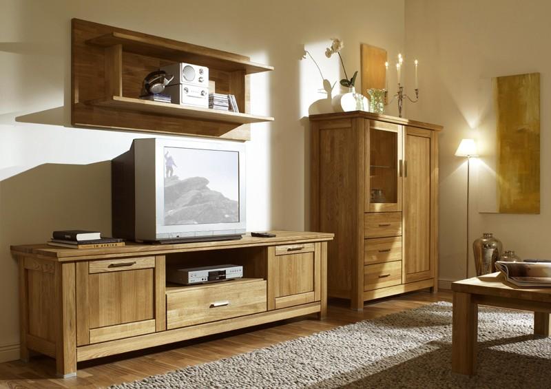 Drevená obývacia stena