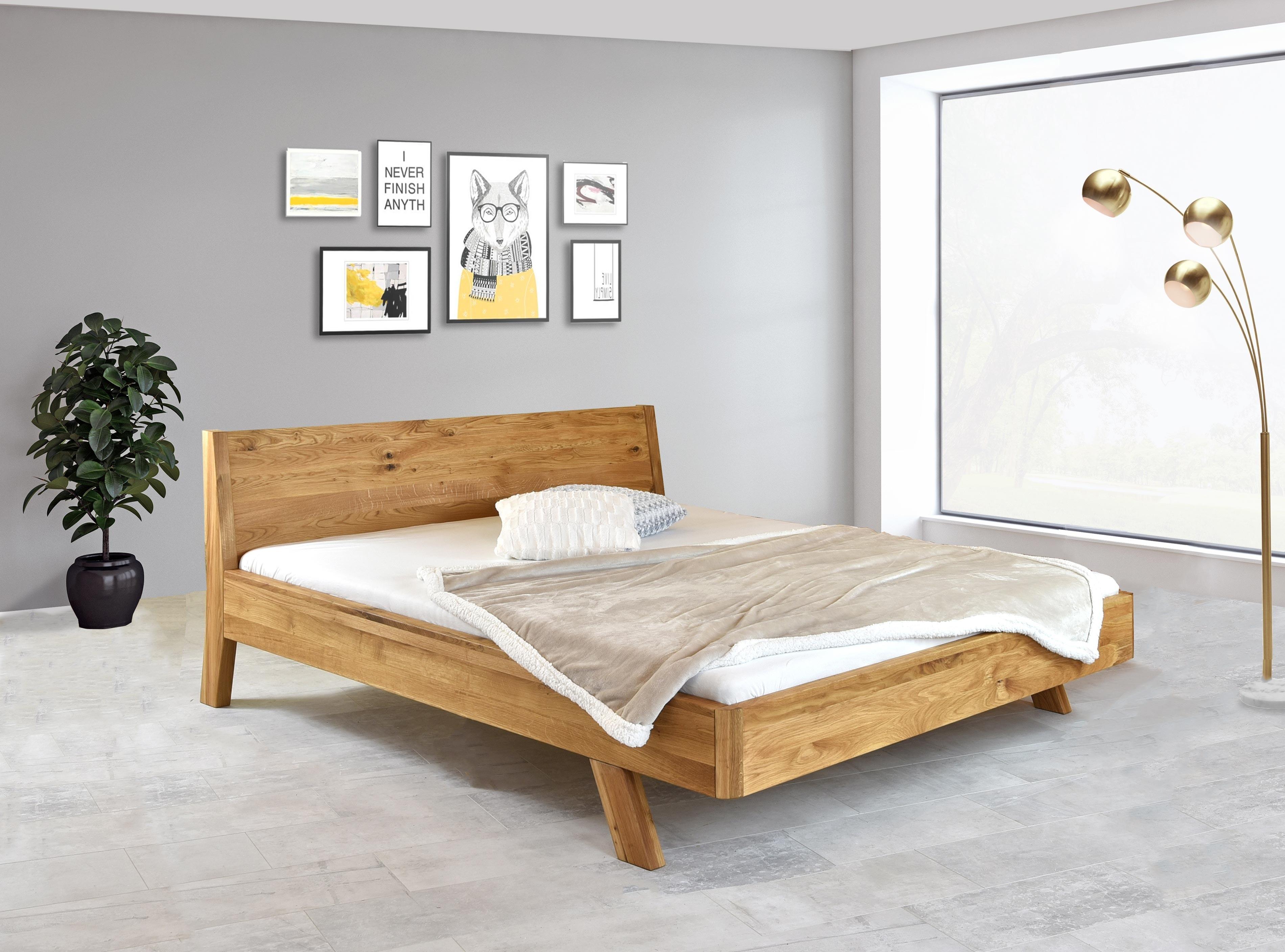 Manželská posteľ z dubového dreva 160 x 200 alebo 180 x 200