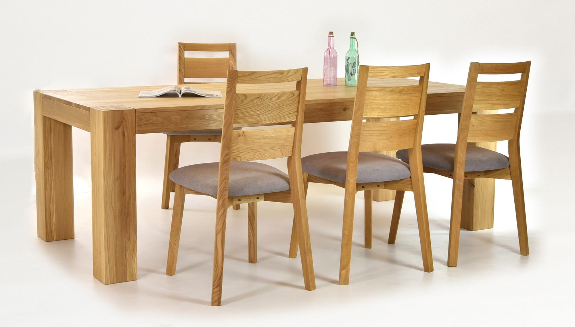 cddf6e9e961b Dubový stôl do jedálne 180 x 100 a dubové stoličky 4 ks možnosť vyrobiť aj  stôl 220 x 100 a doobjednať ľubovolný počet stoličiek