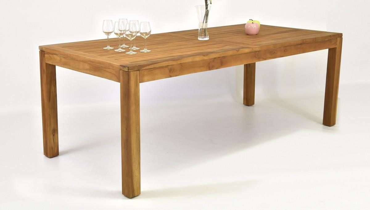 teakový stôl do záhrady