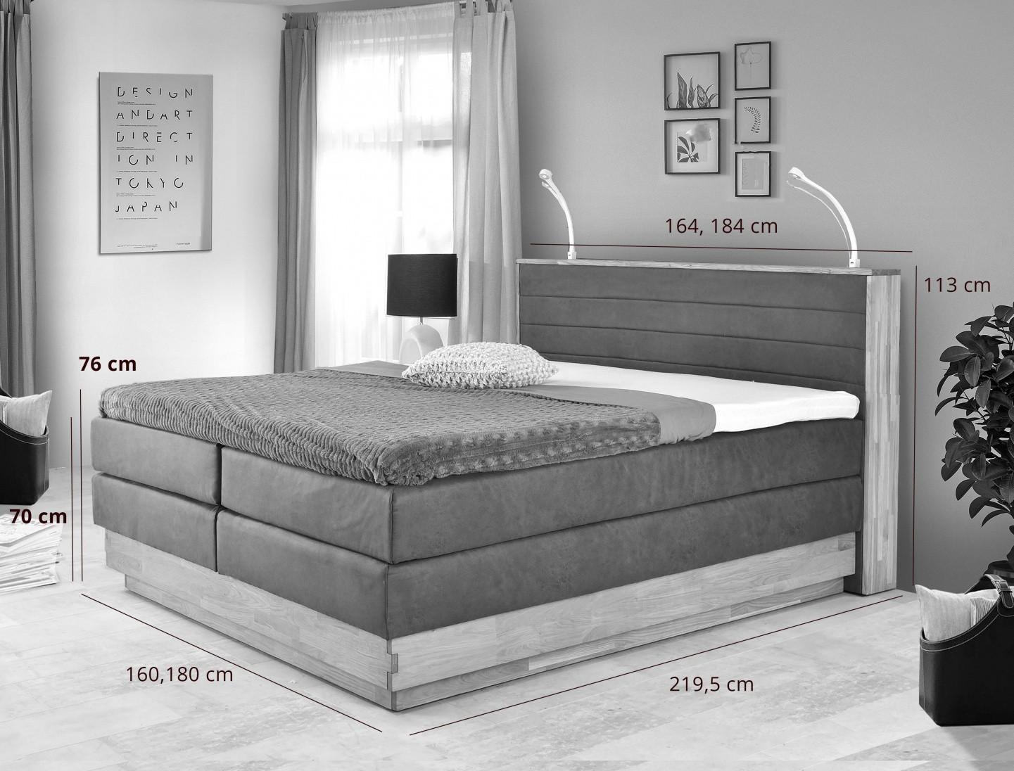 Boxspring postel 180 x 200 hnedá
