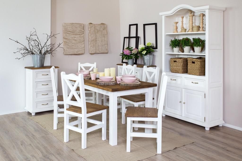 ba312b39988a Vitrína z dreva v bielej farbe idelný doplnok pre romatickú jedálen  provensálsky štýl bývania