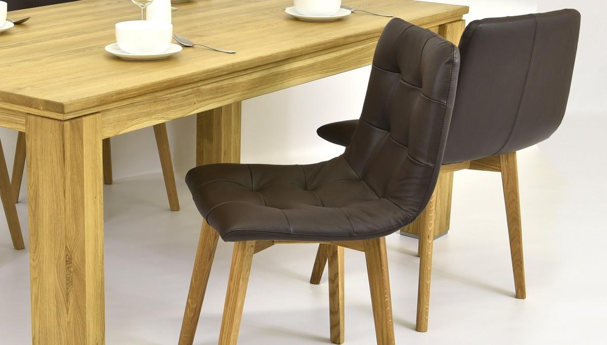 Dizajnová kožená stolička