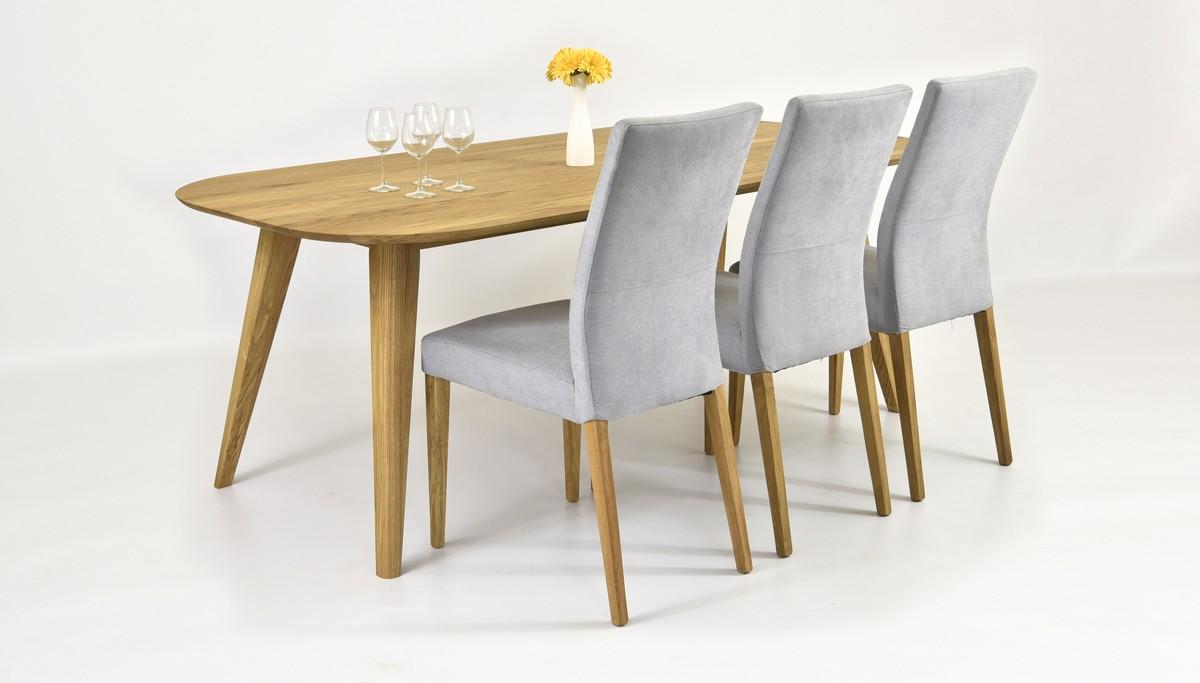 Dubové stoličky hnedé