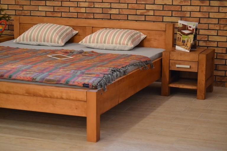 cdfd3fa4c5643 ... Manželská posteľ z dreva 180 x 200, Model L 5 , farba gaštan ...