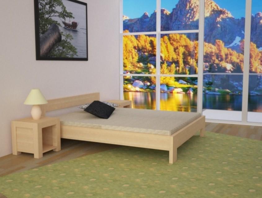 Svetlá manželská posteľ