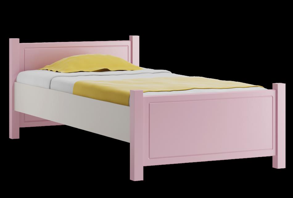 2ded045088d4 Detská posteľ je vyrobená z čistého borovicového dreva a obsahuje aj pevný  drevený rošt. Možnosť výberu šiestich farebných odtieňov čiel postele.