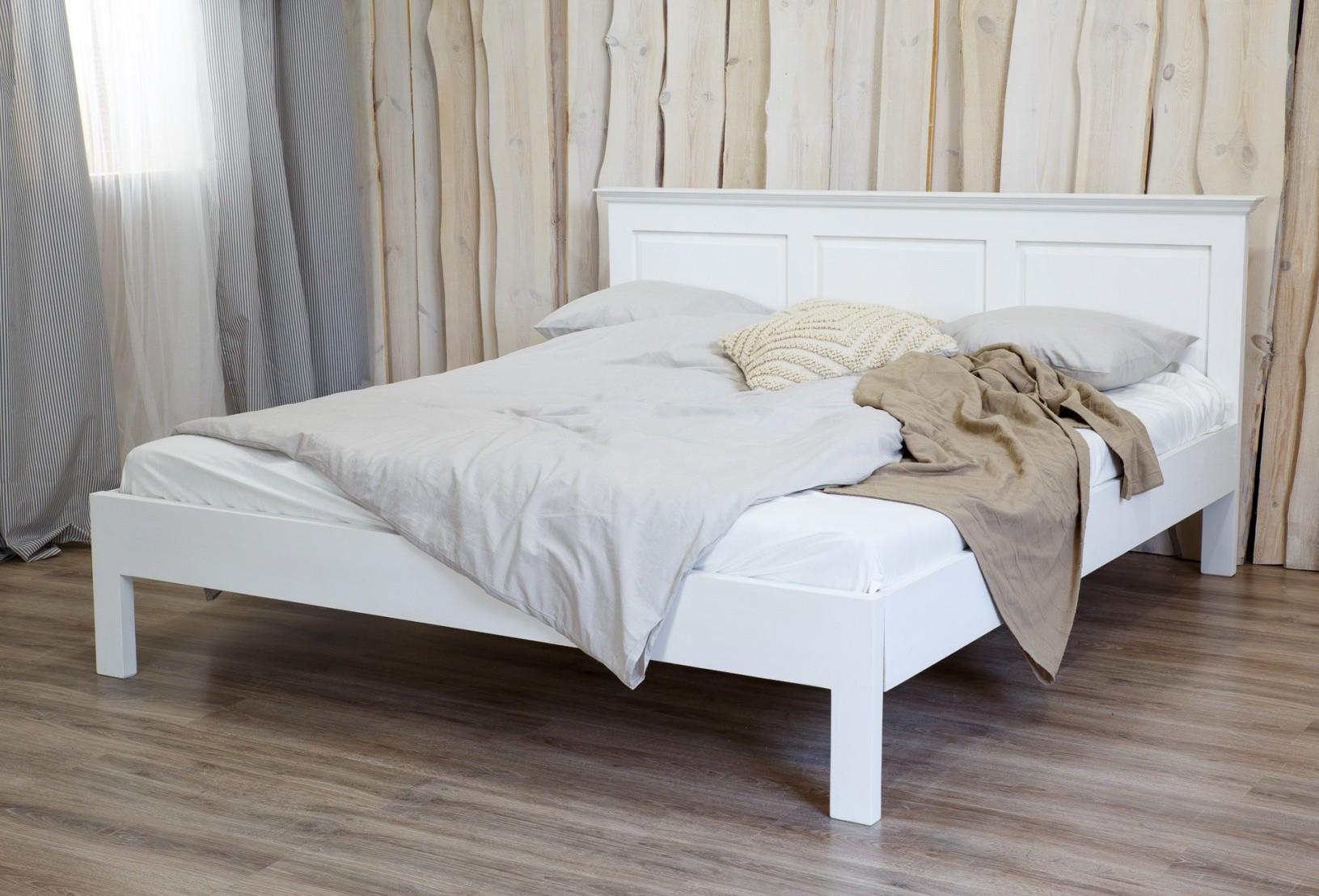 aba44ae45764 Biela manželská posteľ · Manželská posteľ z masívu ...