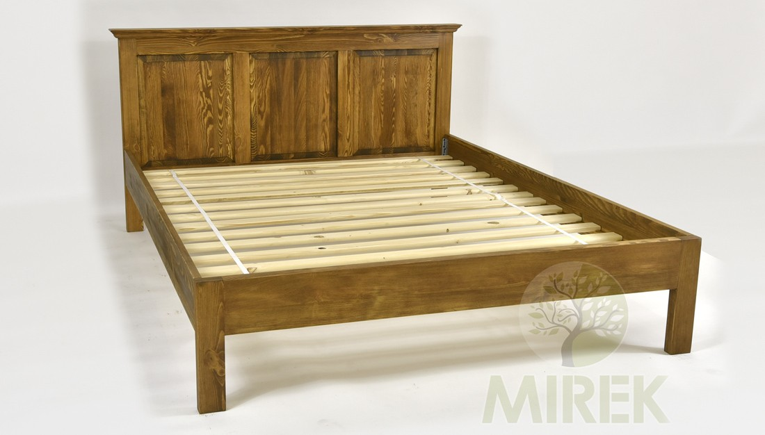 1e7df86129d4 Vidiecká posteľ z dreva 160 x 200