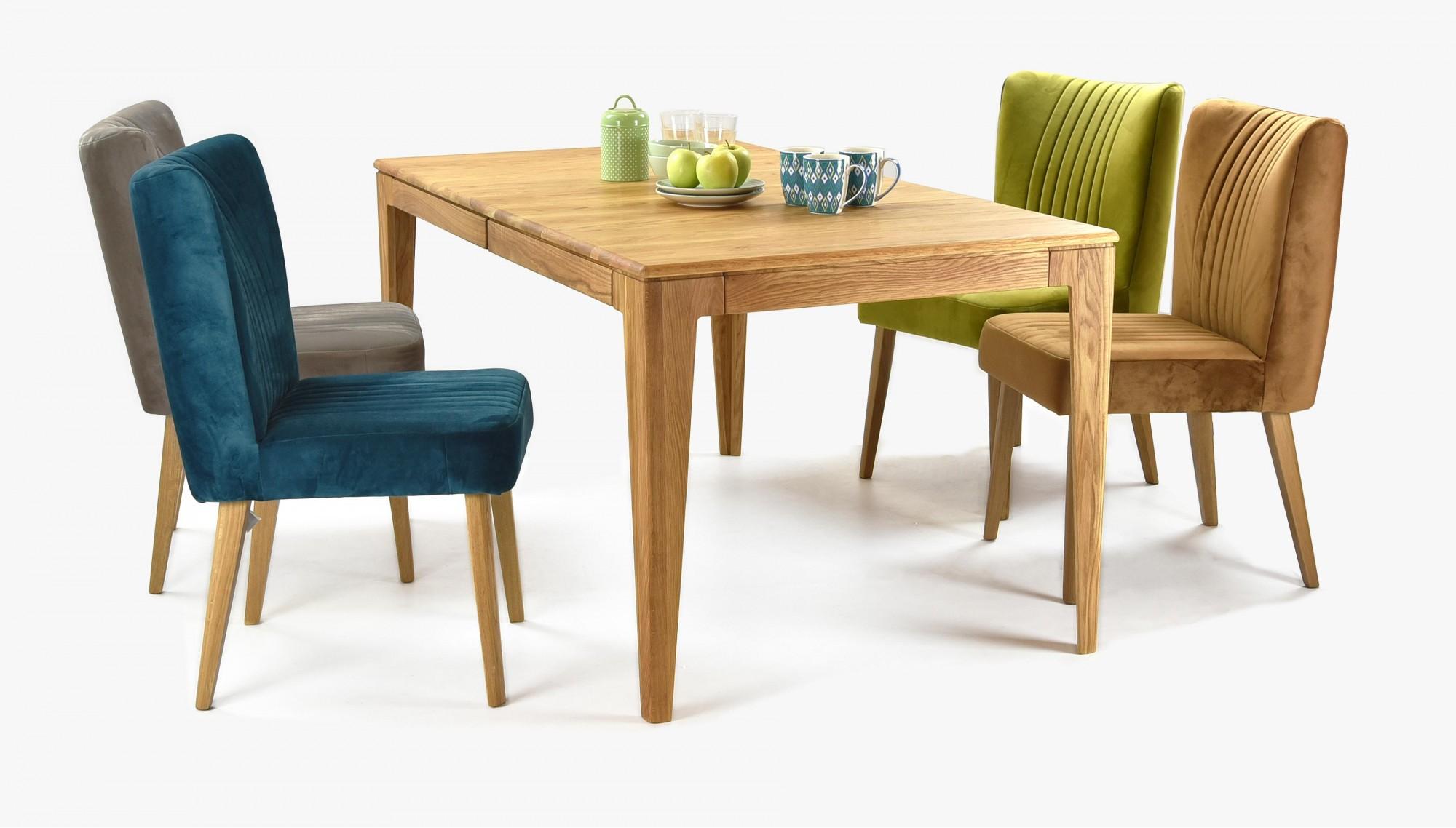 47decabbf6fe Luxusný dubový jedálenský set AVIGNOX + Stolička Ján (Rozkladací stôl) ...