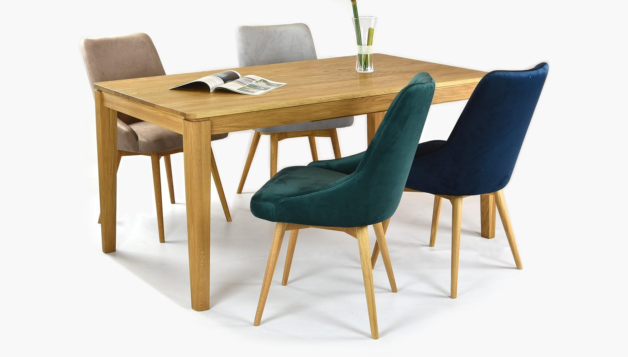 8682528fbf Luxusný dubový stôl rozkladací + zamatové stoličky do jedálne ...