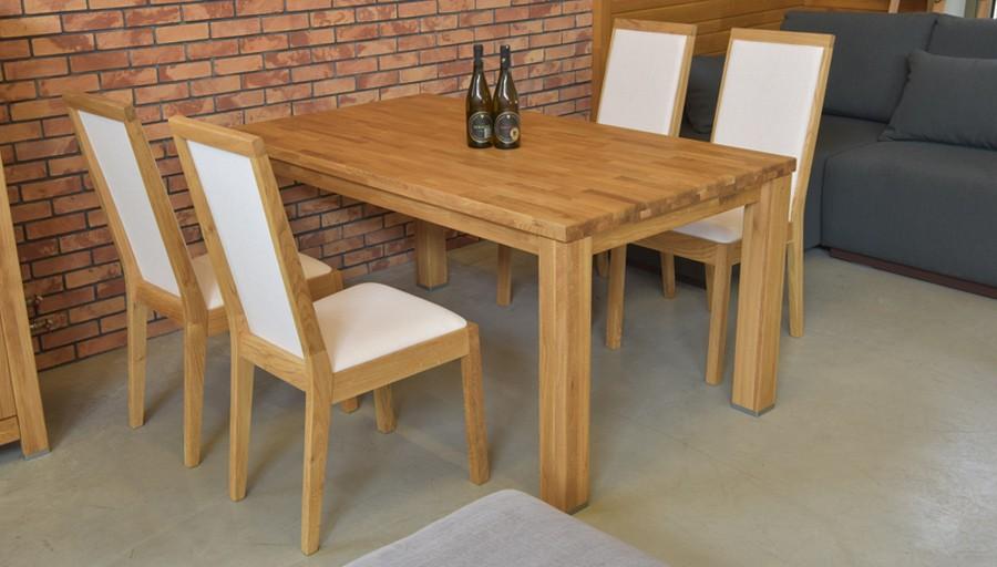 bdf05540716b Dubový stôl do jedálne so stoličkami