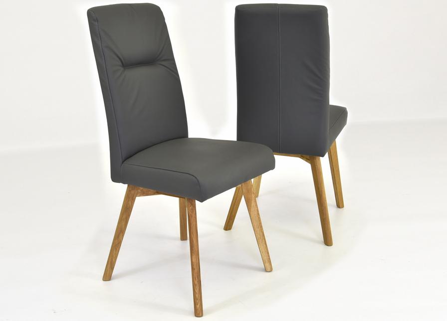 b91ee61284bd Dubový stôl do jedálne hnedá kožená stolička do jedálne sivá kožená stolička  ...