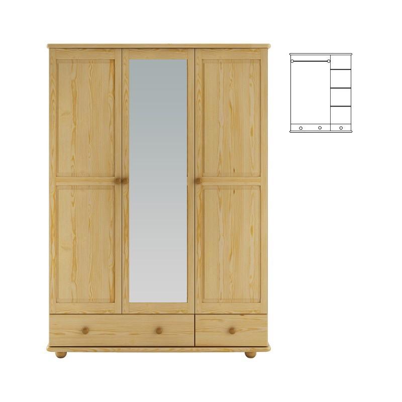 Skriňa so zrkadlom (120) - TYP 65B