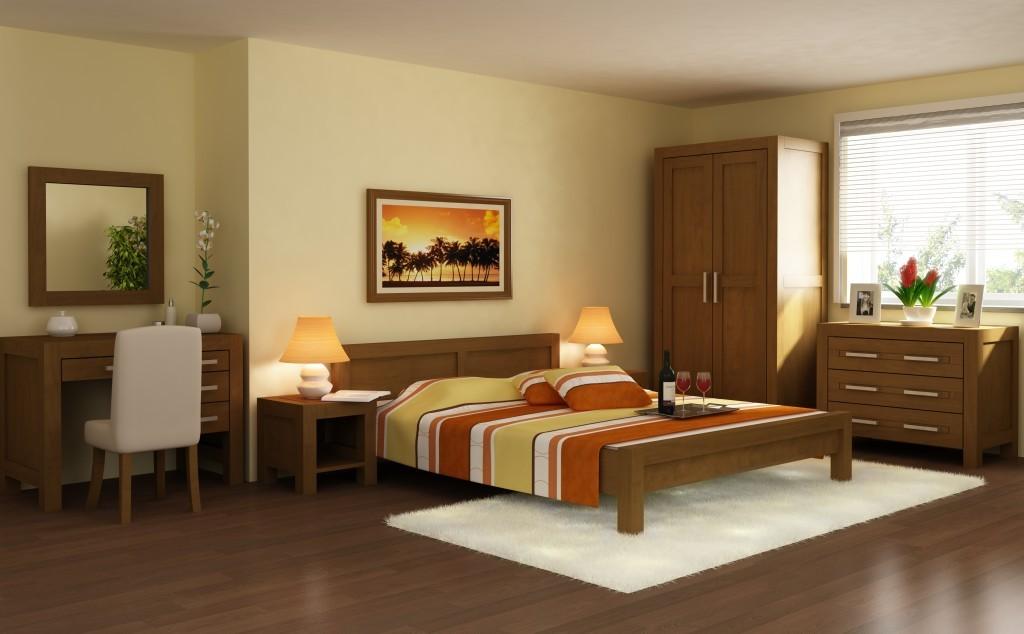 Spálňa z masívu 1