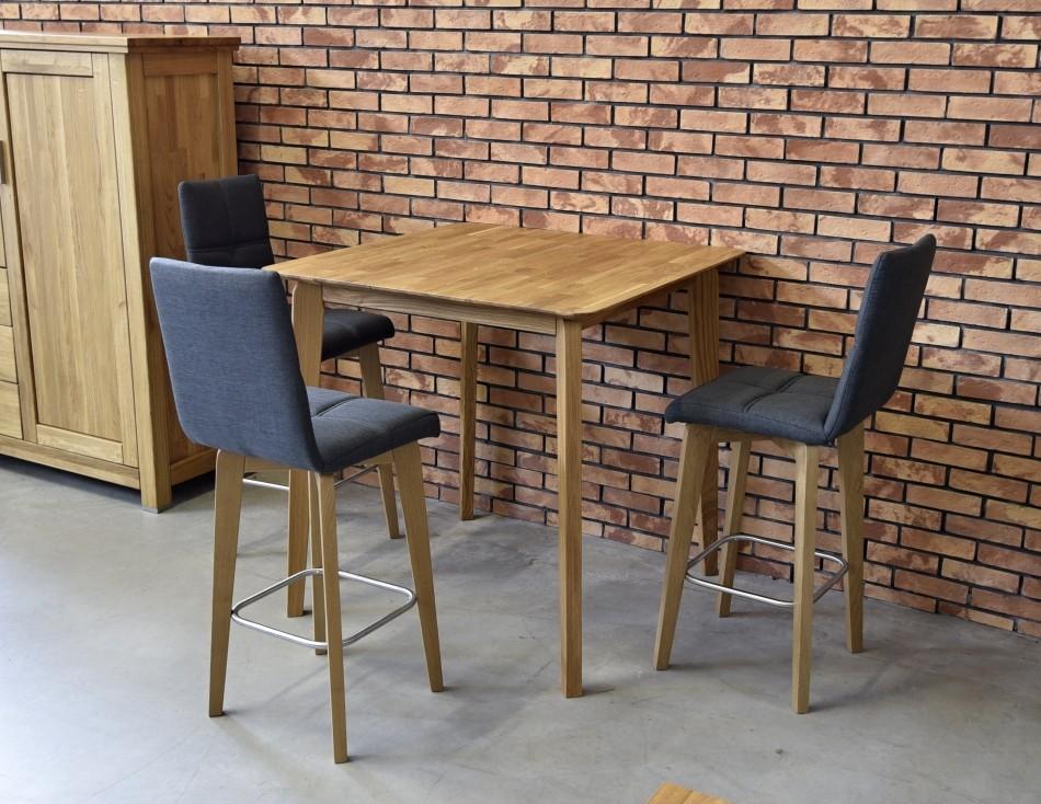 ee0ddac00a63 Barové stoličky a stoly z čistého dubové dreva. Stôl dub masív barový 90 x  90 x 90