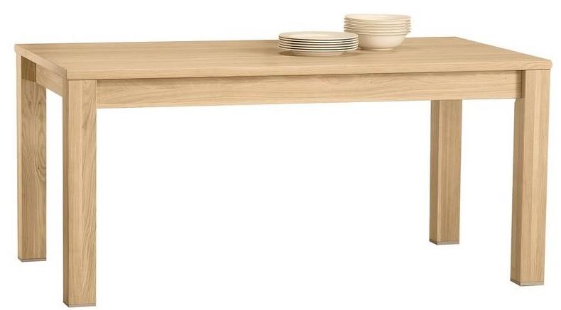 Dubový stôl rozkladací , farba dub biely
