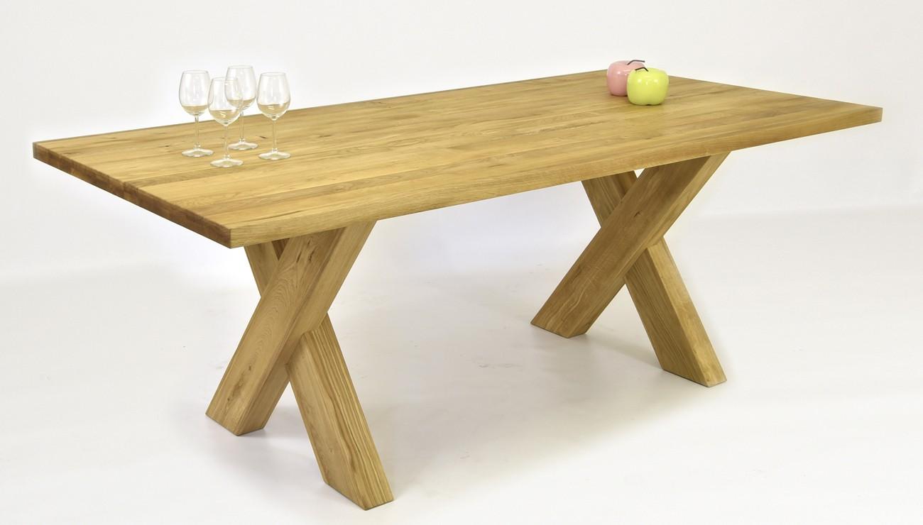 999853ce3fa3 Moderný rodinný stôl z dubu do jedálne a pohodlná kožená stolička BEIGE  alebo BROWN ...