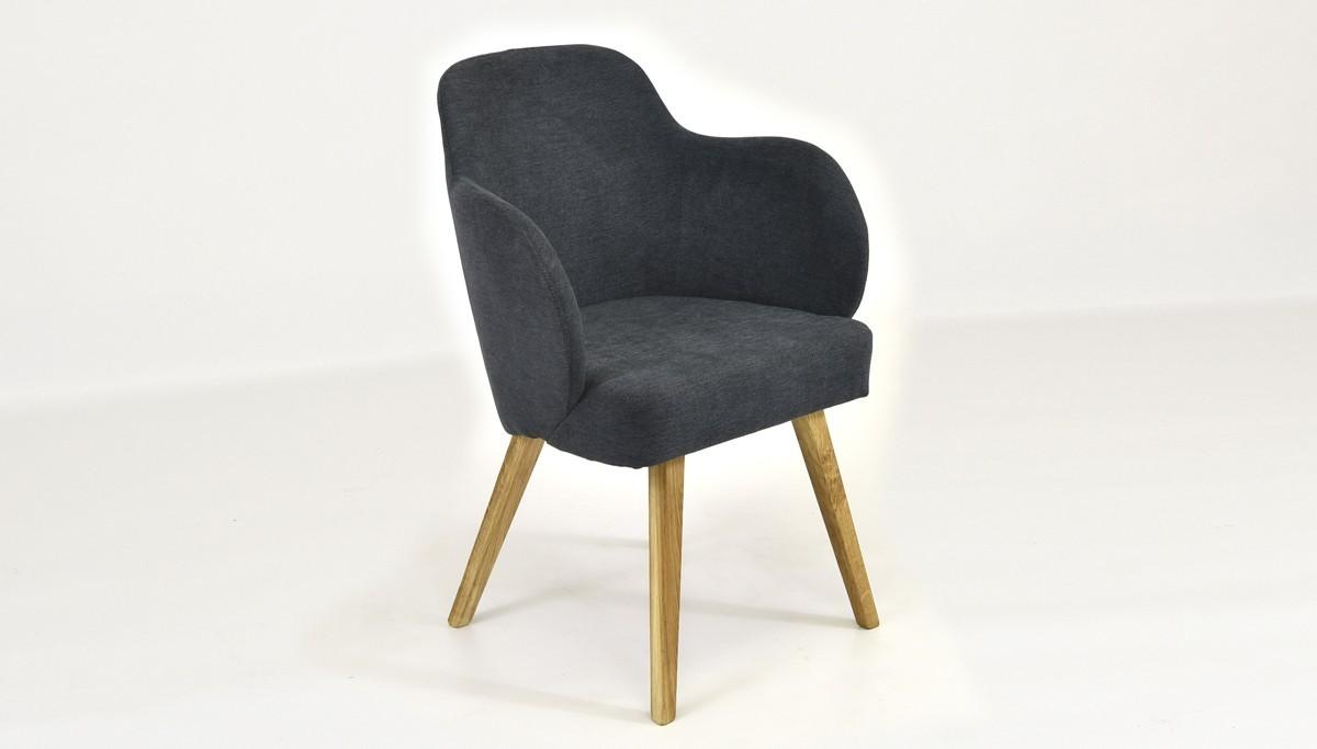 Antracitová stolička do jedálne
