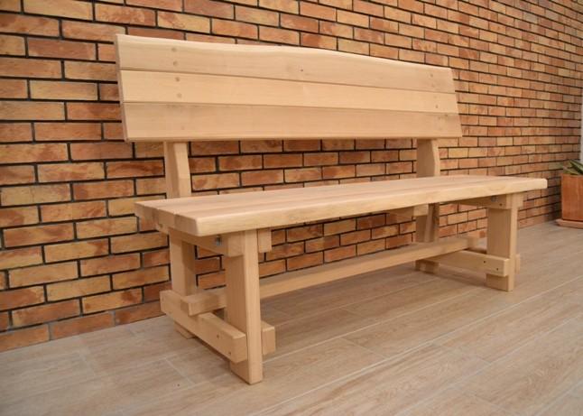 Záhradná lavica - dub
